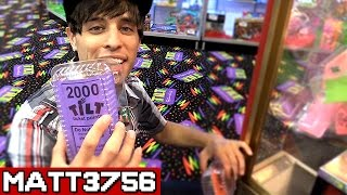 getlinkyoutube.com-Winning Tickets in the Claw Machine ~ Arcade Game Jackpot Challenge Can We Win It? | Matt3756