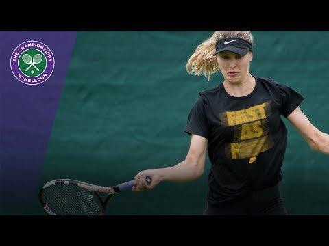 Genie Bouchard hits Wimbledon 2017 grass