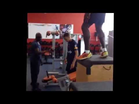 Dwain Chambers Box Jumps!