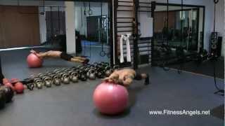 getlinkyoutube.com-Top 10 Swiss Ball Exercises: Build Strong Core&Full Body Strength