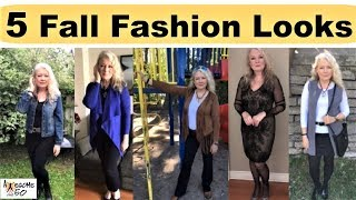 My Top 5 Fall Fashion Looks, Mature, over 50 Women