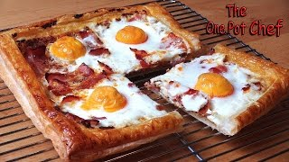 getlinkyoutube.com-Bacon and Egg Breakfast Tart | One Pot Chef