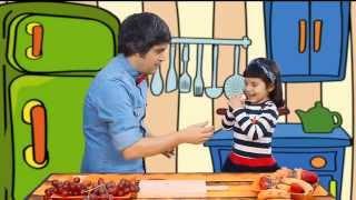 getlinkyoutube.com-COCINA CON NIÑOS - CARITA SONRIENTE CON FRUTA -  Dubbi Kids