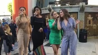 Fifth Harmony performing Don't Say You Love Me on Hollywood Boulevard width=