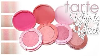 getlinkyoutube.com-Review & Swatches:TARTE Chic to Cheek Deluxe Amazonian Clay Blush Set