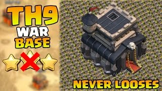 getlinkyoutube.com-Clash of clans - Town hall 9 (TH9) BEST war base (2 Air Sweepers) [Anti 3 Stars] 2015