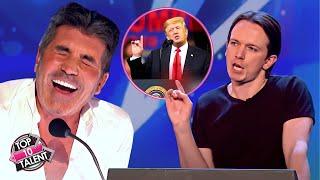 Impersonator DONALD TRUMP Make Judges Can't Stop Laugh   Britain's Got Talent