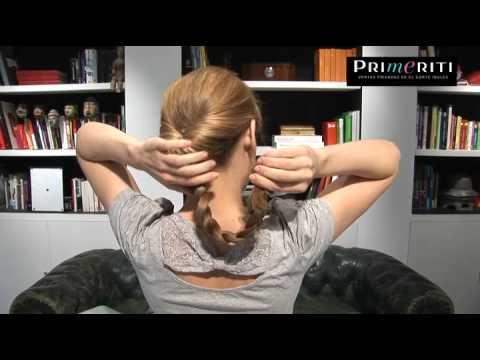 Peinados fáciles paso a paso: Recogido romántico trenzado