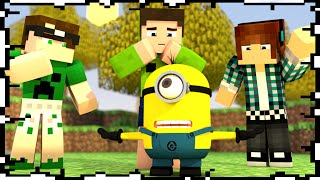 getlinkyoutube.com-4 YOUTUBERS E UM MINION - Build Battle