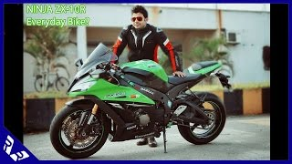 getlinkyoutube.com-2015 Kawasaki Ninja ZX-10R - An Everyday Bike? City ride and Review | RWR