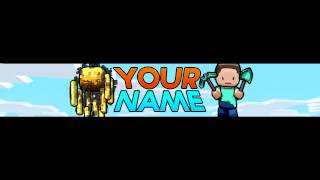 getlinkyoutube.com-#7 | Free Minecraft YouTube Banner/Channel Art Template PSD Download!