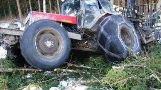 getlinkyoutube.com-Belarus Mtz 1025, 82 tractors in forest, compilation