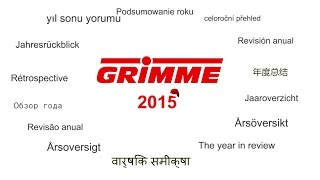 Grimme - The year 2015 in review