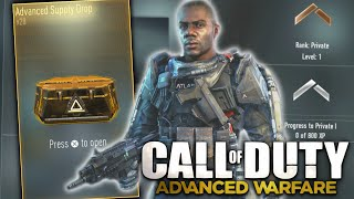 getlinkyoutube.com-Advanced Warfare: Lvl. 1 Advanced Supply Drop Opening!