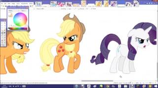 getlinkyoutube.com-Pony VS Pony Speedpaint // My Little Pony