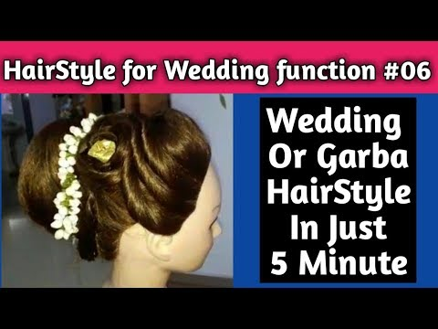 Download Thumbnail For Hairstyle For Wedding Or Garba Function 06