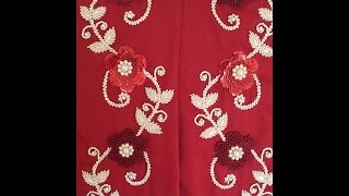 getlinkyoutube.com-طرزة مع رشمتها الموديلات الطرز الرباطي 2016 Embroidery
