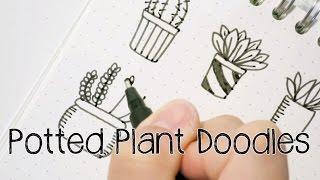 getlinkyoutube.com-Doodle with Me : Potted Plant Doodles V.2