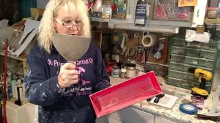 getlinkyoutube.com-Stencilling with drywall compound