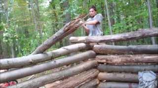 getlinkyoutube.com-Working on Cabin Shelter