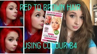 getlinkyoutube.com-Red to Brown Hair using Colour B4