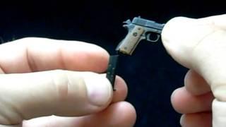 getlinkyoutube.com-Colt 1911 .45 ACP Miniature Steel Pistol - Working Parts