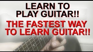 Learn To Play Guitar The Fastest Way - The Busker Technique 1