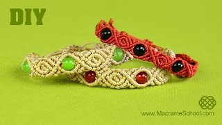 getlinkyoutube.com-Roses & Beads - Macrame Bracelet Tutorial [DIY]