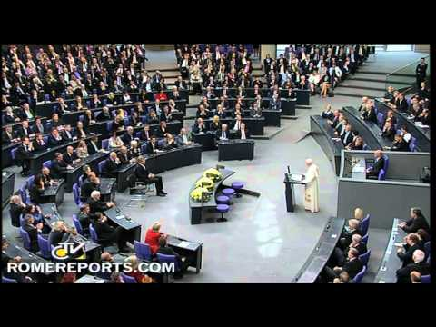 Pope to German lawmakers  Decision based on human nature will assure justice and peace