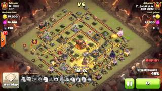 Clan wars with hog rigder and witches th10 max