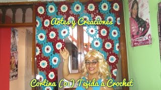 getlinkyoutube.com-CORTINA (01) TEJIDA A CROCHET - 1ERA. PARTE