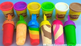 getlinkyoutube.com-How to Make Play Doh Ice Cream with Molds Fun and Creative for Kids