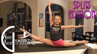 getlinkyoutube.com-How to do the Splits | Whitney's Kitchen Gymnastics | Oversplits Edition