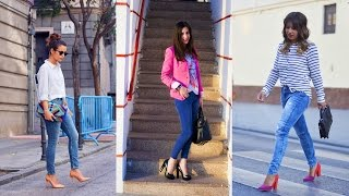 OUTFITS JEANS + TACONES 2016