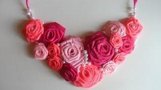 getlinkyoutube.com-Мастер класс : Ожерелье с Розами / Master class : Necklace with Roses