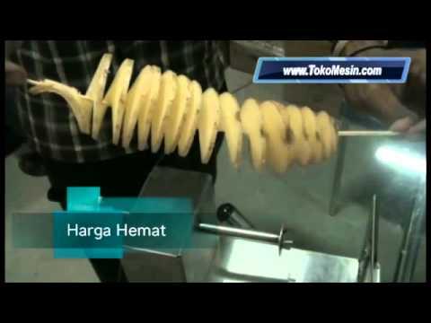 mesin twist potato pengiris kentang spiral
