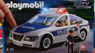 getlinkyoutube.com-Playmobil Police Car Toy with Flashing Emergency Lights 5184 - Police Rescue Toys