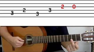 getlinkyoutube.com-Guitar lesson 5 : Beginner -- 'La Bamba' on four strings