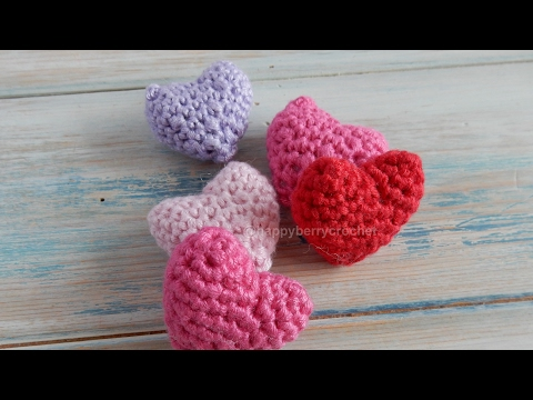 How to Crochet a Small Padded Heart