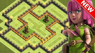 """getlinkyoutube.com-Clash Of Clans - """"NEW!"""" BEST TOWN HALL 6 (TH6) HYBRID BASE w/2 Air Defenses 