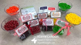 getlinkyoutube.com-How to make Stampin' Up!'s Paisleys & Posies Gusseted Treat Bags - Episode 506