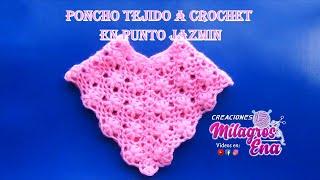 getlinkyoutube.com-Poncho tejido a crochet #3 en punto jazmin