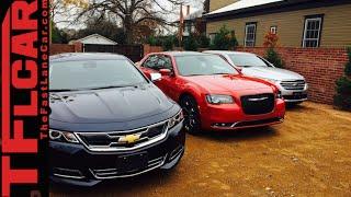 getlinkyoutube.com-2015 Chrysler 300 vs Chevy Impala vs Ford Taurus Mashup Review in TFL4K