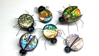 getlinkyoutube.com-Polymer clay(Fimo) Jewel Bugs - Tutorial