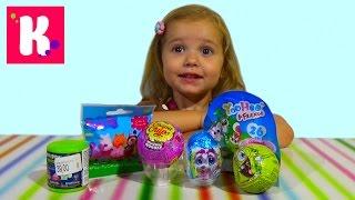 getlinkyoutube.com-Свинка Пеппа Спанч Боб Энгри Бёрдс сюрпризы с игрушками распаковка surprise unboxing