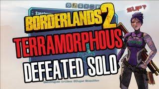 Borderlands 2 PC Terramorphous defeated Solo with Siren