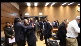 Nalaka Godahewa and pro-LTTE group clash in Geneva
