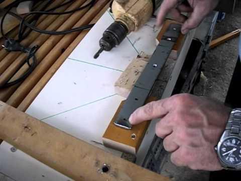 Cómo hacer una Ingletadora casera con sierra circular (II) Así se puede hacer, otra opción.