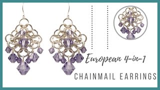getlinkyoutube.com-European 4-in-1 Chainmail Earrings Tutorial - Beaducation.com