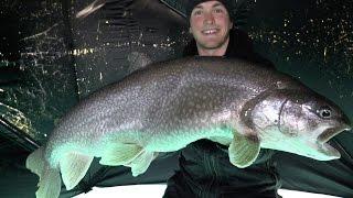 getlinkyoutube.com-Ice Fishing Monster Lake Trout